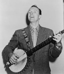 Pete Seeger, 1955; by Fred Palumbo for New York World-Telegram & Sun