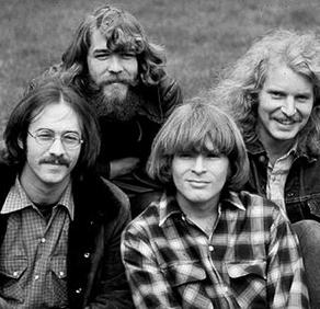 Creedence Clearwater Revival; from L, Stu Cook, Doug Clifford, John Fogerty, Tom Fogerty.