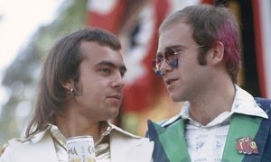 John with Bernie Taupin, California, 1973. Photograph: Ed Caraeff.