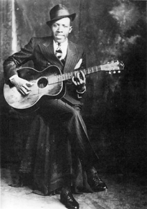 Robert Johnson Studio Portrait, Hooks Bros., Memphis, circa 1935 ©1989 Delta Haze Corporation