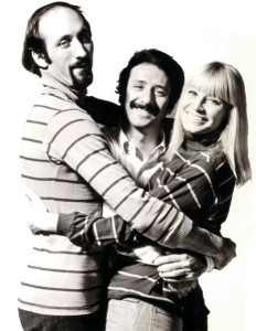"""Peter Paul and Mary publicity photo"" from the 1960s, by Sol Mednick"