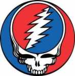 Grateful Dead 'steal your face' skull logo.