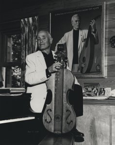 John Jacob Niles with one of his dulcimers.