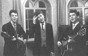 The Quarry-Men in the late 50s. From L: Paul McCartney, John Lennon, George Harrison.