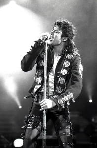 Michael Jackson performing in Vienna, Austria, 1988, on the Bad World Tour. Photo by Zoran Veselinovic.