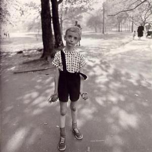 "Photo by Diane Arbus, ""Child With Toy Hand Grenade in Central Park"""