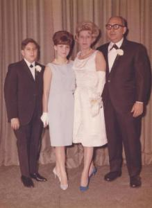 The Gottlieb family, 1965. From L: Steve, Judy, Roslyn and Seymour Gottlieb.