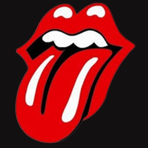 Rolling Stones logo, designed by John Pasche, that first appeared on the 1971 Sticky Fingers album.