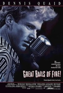Poster for the 1989 film Great Balls of Fire.