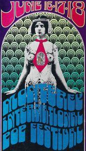 Poster for the June, 1967 Monterey Pop Festival.