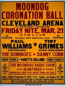 Poster for the March, 1952 Moondog Coronation Ball.