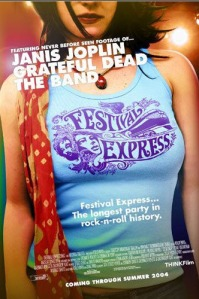 Poster for the 2004 documentary film Festival Express.