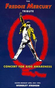 Poster for Freddie Mercury Tribute Concert, Wembley Stadium, April 1992.