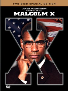 Poster advertising the 1992 Spike Lee movie Malcolm X.